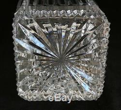 Waterford Ireland Irish Crystal Cut Glass Four Season Large Vase