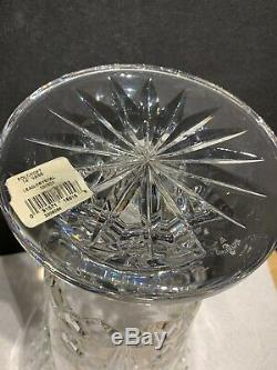 Waterford Irish Crystal. 14 Ht. Balmoral Footed Vase. Wonderful Cuts. Sparkle