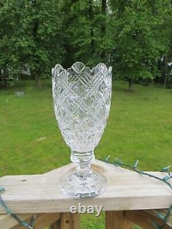 Waterford Irish Cut Crystal Glass 13 Flower Vase Master Cutter Collection