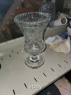 Waterford Master Cut Crystal 10 Thistle Vase Vintage (rare Size)