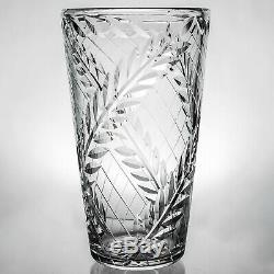 Webb Corbett Superb Cut Crystal Very Large Bucket Vase height 11 c. 1966